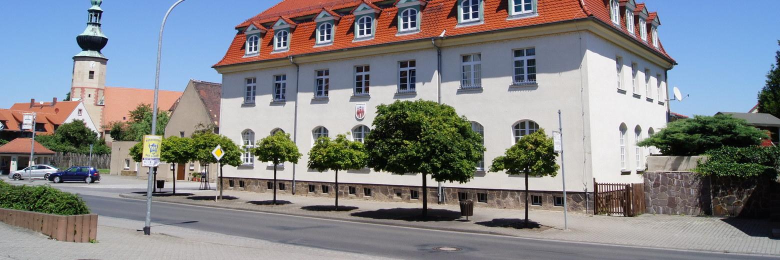 Banner Straßenansicht Rathaus Trebsen
